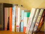 A selection of books at the cottage.