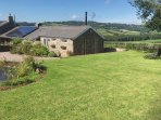 Situated in its owns ground with stunning views with the wildlife pond just appearing in view