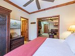 Master Bedroom with King Bed and plasma TV