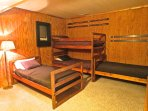 Second Bunk Room with Four Twin Beds and Private Ensuite Bath