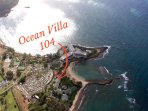 Aerial view of the Ocean Villas at Turtle Bay.