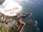 Aerial view of the Ocean Villas at Turtle Bay!