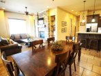 Dining, Living, and Kitchen Area