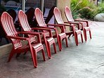 Shaded Chairs by Outdoor Pool