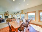 The open concept area is great for socializing and entertaining.