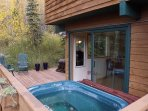 Unwind in the Private Outdoor Hot Tub
