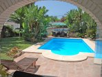 Pool & poolside dining area