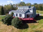 Catskill Mtn View Contemporary w Fireplace & Deck, near wedding venue and skiing