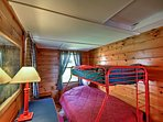 The bunk room is great for the kids!
