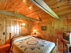 Enjoy beautiful natural light in this bedroom