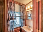 This half bathroom provides extra privacy for all.