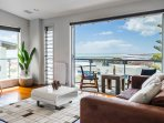 Amazing ocean views straight from the living room!