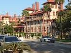 Flagler College, just a few minutes walk away