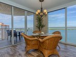 Whether inside or on the balcony, you're sure to enjoy casual dining for 4 with a priceless view!