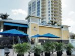 Flippers on the Bay, a favorite with the locals, onsite open air restaurant & bar serving breakfast, lunch, & dinner