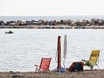 La spiaggia libera a pochi passi dall' alloggio