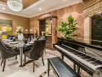 Dining Room with Grand Piano