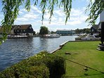 Superb views of the River Bure and Boating from the cottages communual gardens. Excellent fishing