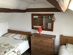 2nd Bedroom showing small double bed