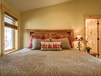 Master bedroom with brand new King bed located on the upper level