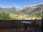 Private balcony to bedroom 2 with view over Soller.