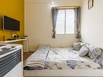 Bedroom with TV & Aircooler