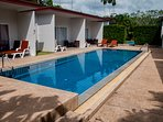 Access and use of 2 swimming pools and jacuzzi.