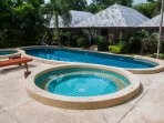 Access to 2 swimming pools and jacuzzi, just a short walk away.