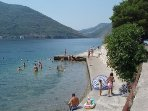 The nearest Jetty beach to the villa, you can also swim off jetties by the villa.