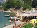 The Pirate beach at the other end of Perast