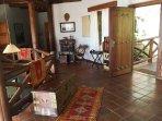 Zanzibar-style doors, Moroccan rugs and Zanzibar Chest in the entrance.