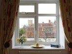 Wells Cathedral view from master bedroom.