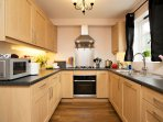 Fully fitted kitchen with every appliance you could possibly want! And beautiful china & glass.