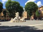 Piazza Testaccio in estate