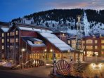 Right where you want to be on a ski vacation!