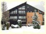 residence sous la neige