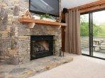 50'' Plasma TV with Blu-ray and Netflix on Demand Movies - Gas Fireplace