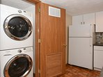 Full size washer and dryer to have warm dry clothes
