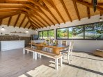 Fully equipped and spacious summer kitchen with TV and barbecue