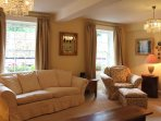 Deep sofas and carefully chosen fabrics