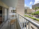 You'll love the stunning balcony views from this cozy 3-bedroom Honolulu condo.