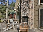 Enjoy the outdoors on the 550 sqft. wraparound deck with fireplace