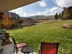 In the winter this grassy area is covered in snow, allowing you to ski right back to your condo. In the summer it is a...