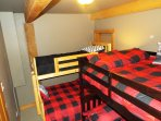 bunk room entry level previous pic dble over dble and single over double total sleeps 7