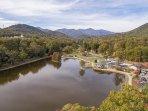Lake Tomahawk aerial view: