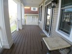 Front Porch with Swivel Rockers and High Top Table with 2 Chairs