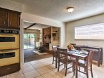 The living room easily flows into the kitchen/dining area!