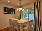 Walk down the hall and gather around the kitchen table to enjoy your home-cooked meals.