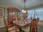 Set the dining room table for 6 and sit down for an elegant dinner.