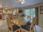 The breakfast table with seating for 6 just off the kitchen is a perfect place to sit and plan out the day's activities.